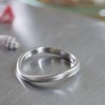 オーダーメイドマリッジリング 屋久島の貝殻 プラチナ 屋久島で作る結婚指輪