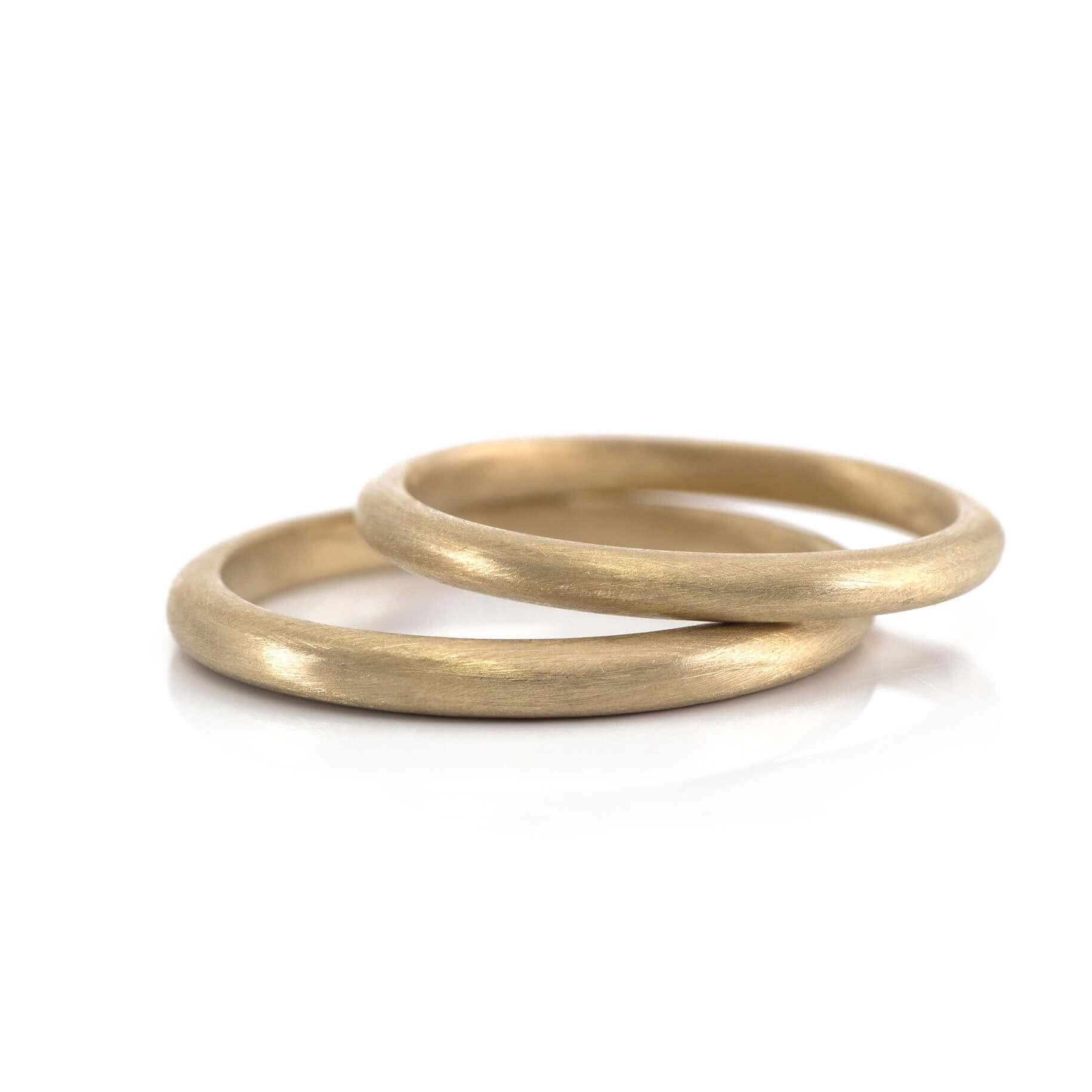 オーダーメイドマリッジリング ゴールド  屋久島の木肌の感触  屋久島で作る結婚指輪