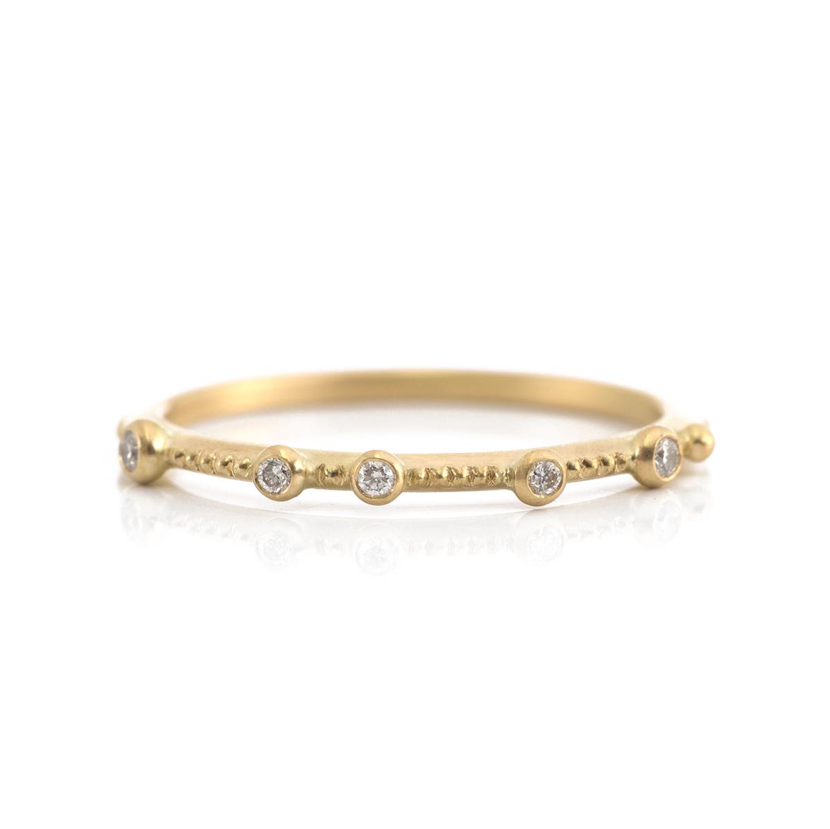オーダーメイドマリッジリング ゴールド、ダイヤモンド 屋久島の雨モチーフ 屋久島で作る結婚指輪