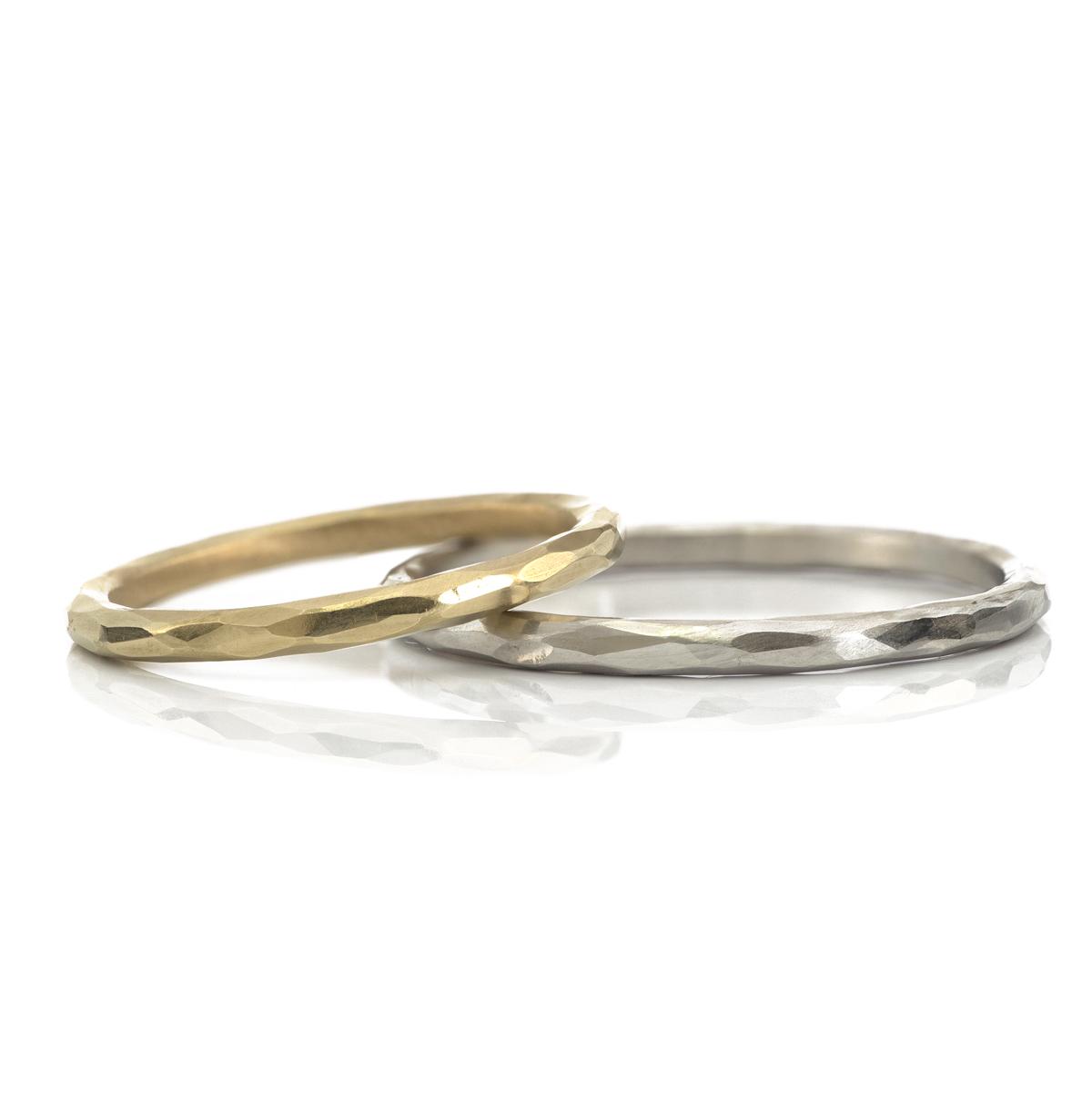 白バック オーダーメイドマリッジリング ゴールド、プラチナ 屋久島でつくる結婚指輪