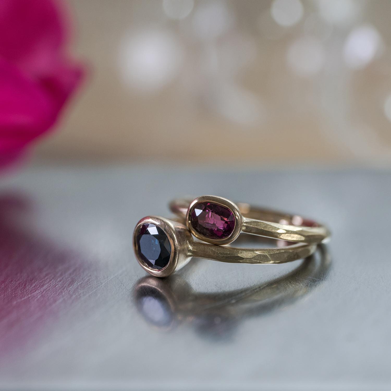 オーダーメイドリメイクリング ジュエリーのアトリエ ルビー、サファイア、ゴールド 屋久島でつくる結婚指輪
