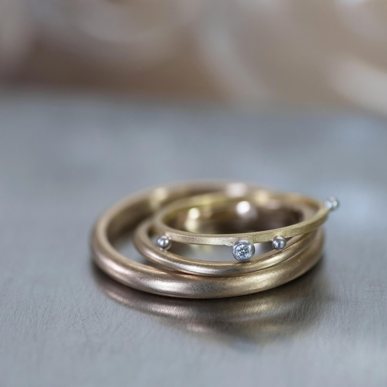オーダーメイドマリッジリング ジュエリーのアトリエ ゴールド、ダイヤモンド、プラチナ 屋久島でつくる結婚指輪