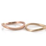 オーダーメイドマリッジリング 白バック ゴールド 屋久島でつくる結婚指輪 屋久島の海モチーフ