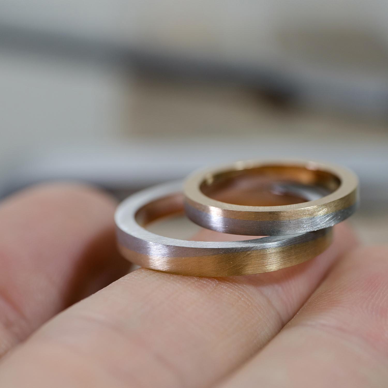 オーダーメイドマリッジリングの制作過程 ジュエリーのアトリエ ゴールド、プラチナ 屋久島の海モチーフ 屋久島でつくる結婚指輪