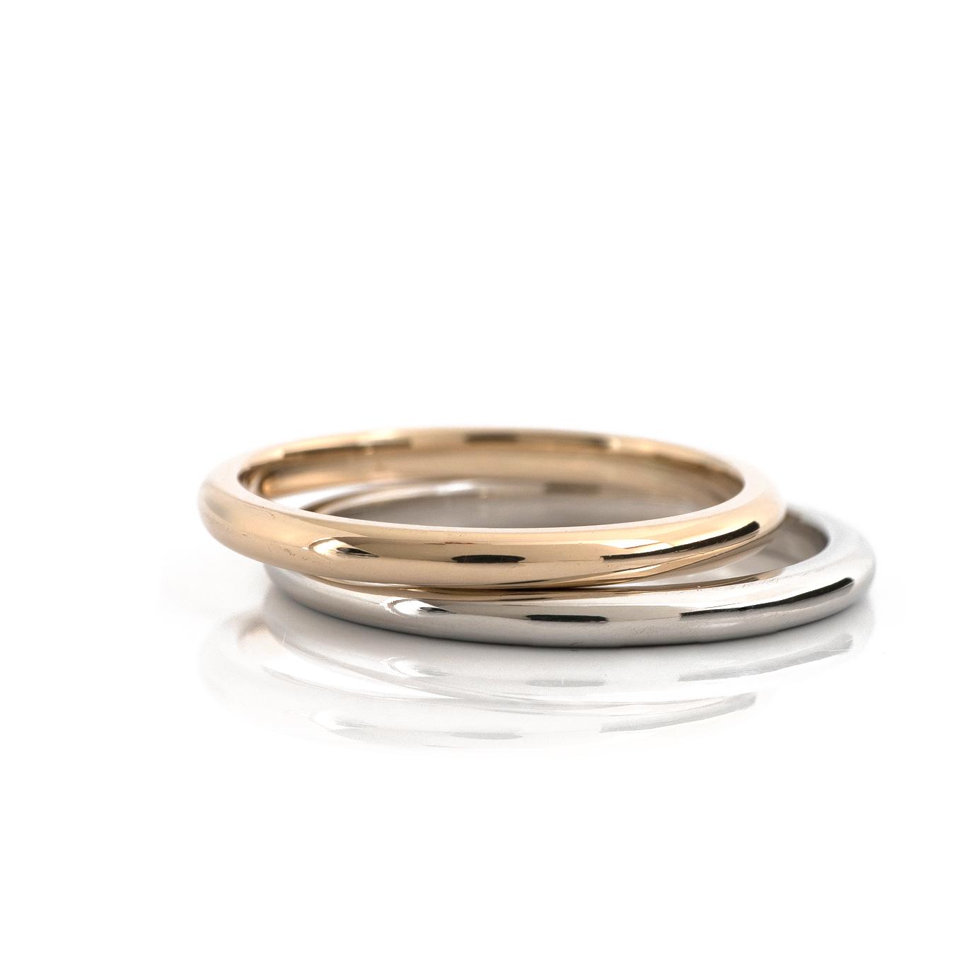 オーダーメイドマリッジリング 白バック 屋久島でつくる結婚指輪 ゴールド、プラチナ