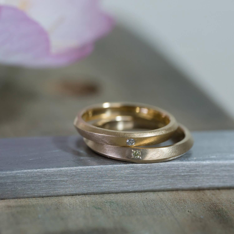オーダーメイドマリッジリング 屋久島ジュエリーのアトリエ ゴールド、ダイヤモンド 屋久島でつくる結婚指輪