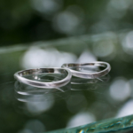 オーダーメイドマリッジリング 屋久島しずくギャラリーのディスプレイ プラチナ、ダイヤモンド 屋久島でつくる結婚指輪