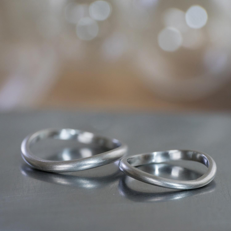 角度2 オーダーメイドマリッジリング 屋久島ジュエリーのアトリエ プラチナリング  屋久島でつくる結婚指輪