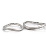 オーダーメイドマリッジリング 白バック プラチナ 屋久島でつくる結婚指輪