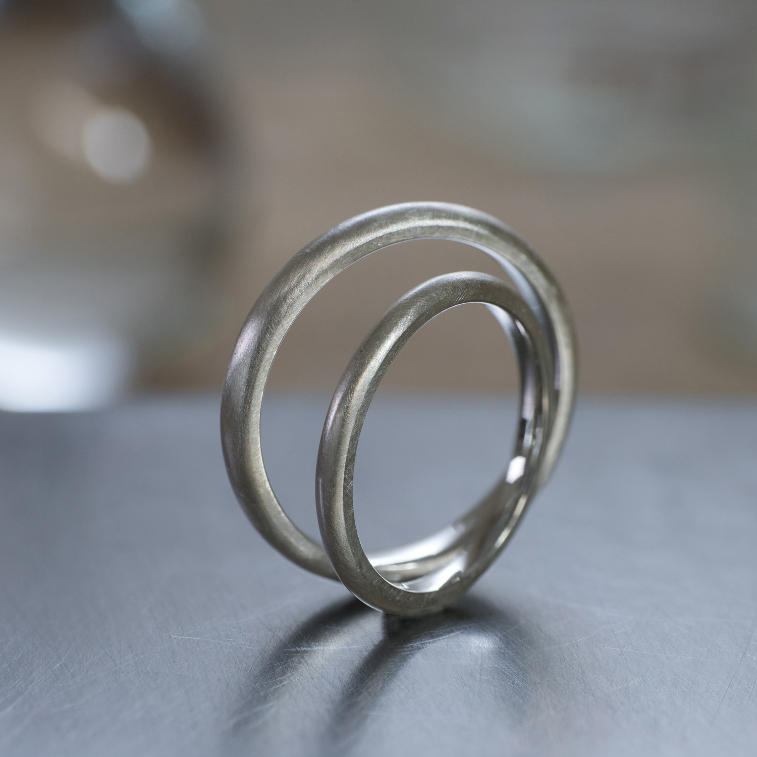 2.0mm and 2.6mm round shape in silver #屋久島でつくる結婚指輪