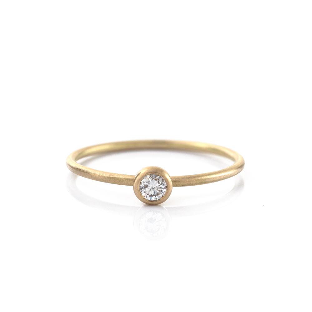 オーダーメイドエンゲージリング ゴールド、ダイヤモンド 屋久島で作る結婚指輪