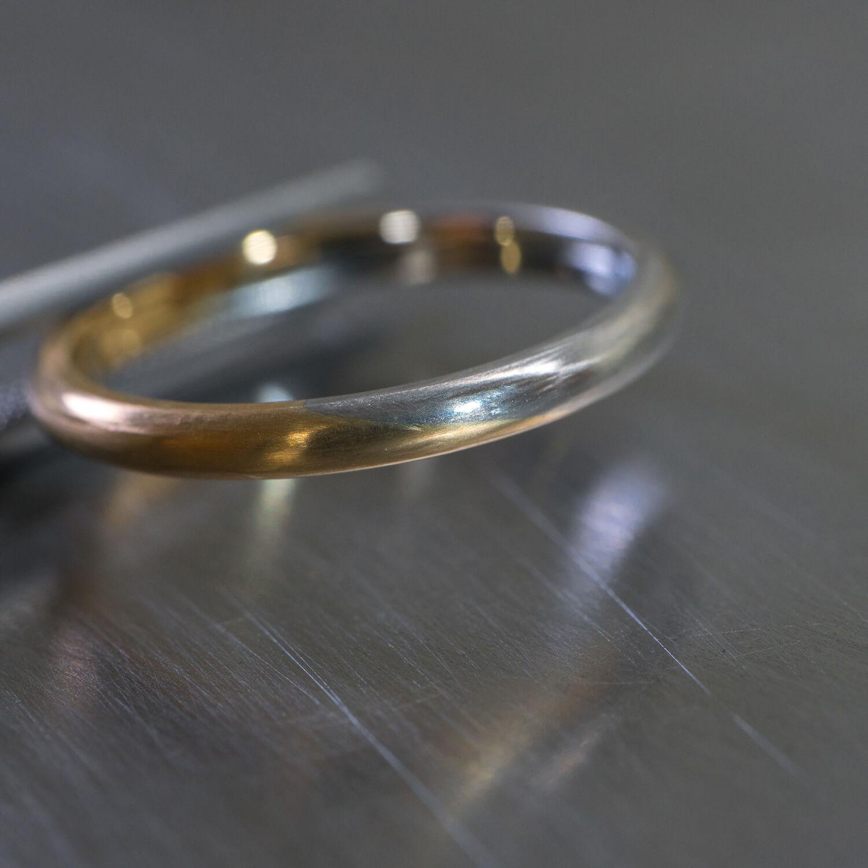 クローズアップ オーダーメイドマリッジリング ジュエリーのアトリエ プラチナ、ゴールド 屋久島でつくる結婚指輪