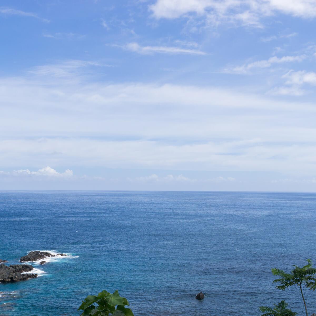 屋久島の海、空 屋久島海とジュエリーと オーダーメイドマリッジリングのモチーフ