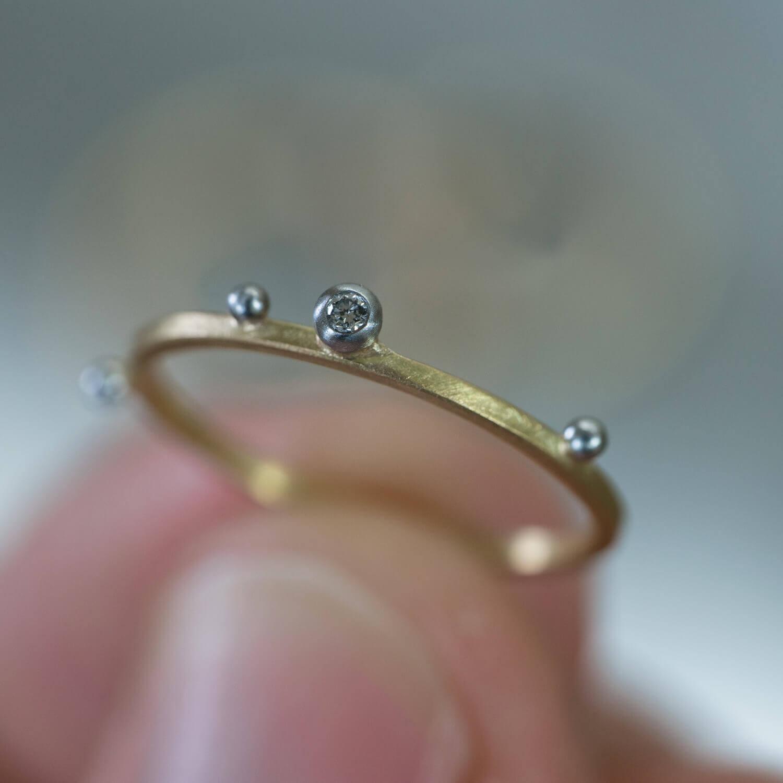 オーダーメイドエンゲージリング ジュエリーのアトリエ ゴールド、ダイヤモンド、プラチナ 屋久島でつくる結婚指輪