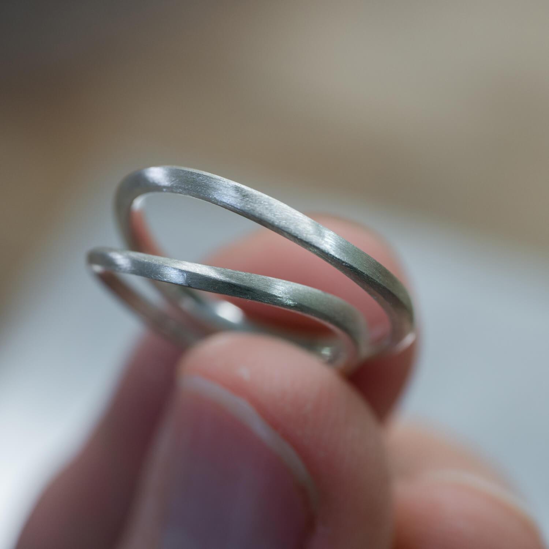 角度4 オーダーメイドマリッジリング ジュエリーのアトリエ シルバーサンプル 新作ジュエリー 屋久島でつくる結婚指輪
