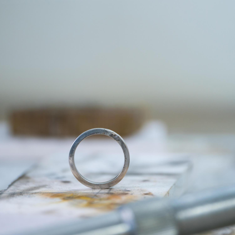 オーダーメイドマリッジリングの制作風景 ジュエリーのアトリエ プラチナリング バーナー 屋久島でつくる結婚指輪