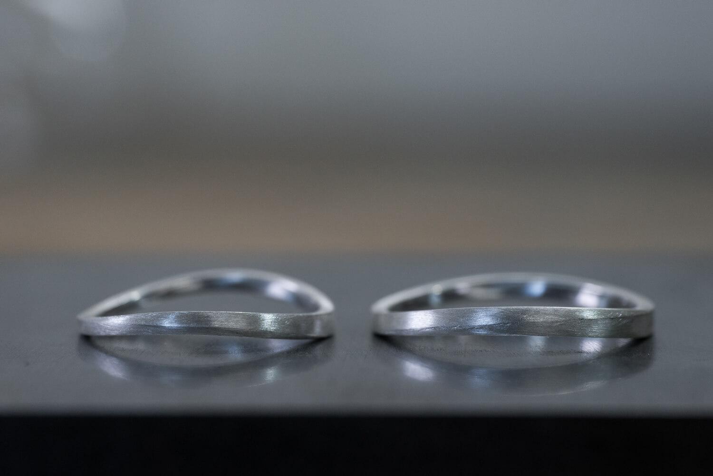 角度3 オーダーメイドマリッジリング ジュエリーのアトリエ シルバーサンプル 新作ジュエリー 屋久島でつくる結婚指輪
