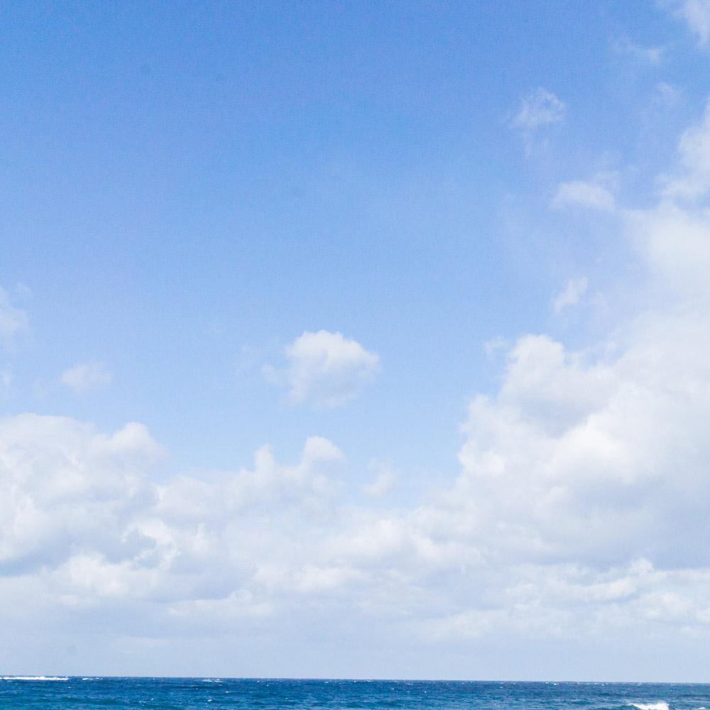 屋久島の海、空 屋久島日々の暮らしとジュエリー オーダーメイドマリッジリングのモチーフ
