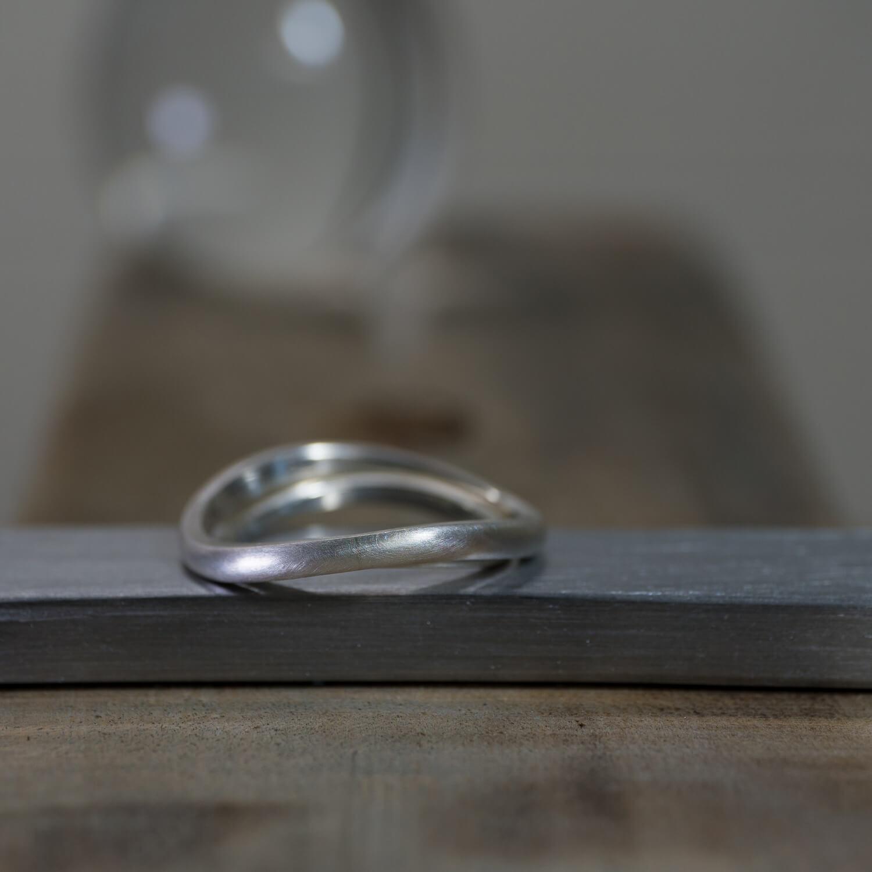 オーダーメイドマリッジリングのサンプル ジュエリーのアトリエ シルバー 屋久島でつくる結婚指輪