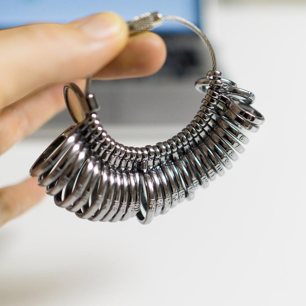 オーダーメイドマリッジリング、貸し出し用のサイズゲージ 屋久島でつくる結婚指輪