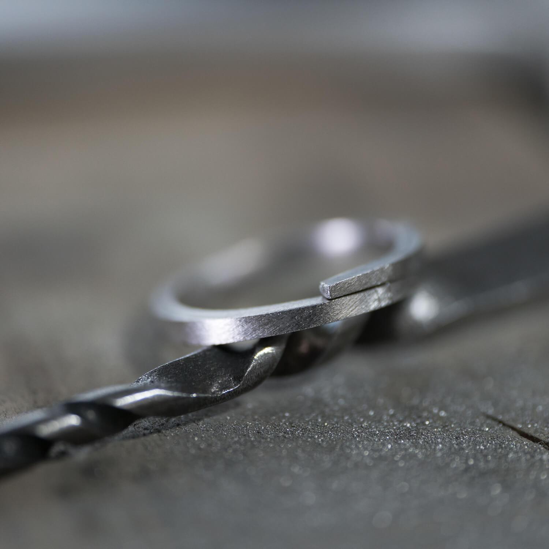レディースリング オーダーメイドマリッジリングの制作風景 ジュエリーのアトリエ プラチナリング 屋久島でつくる結婚指輪