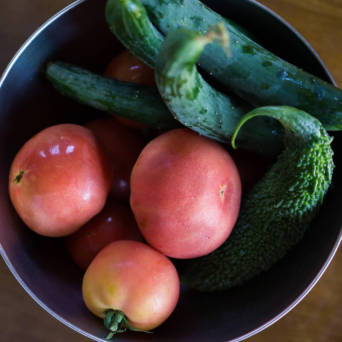 夏野菜 屋久島日々の暮らしとジュエリー