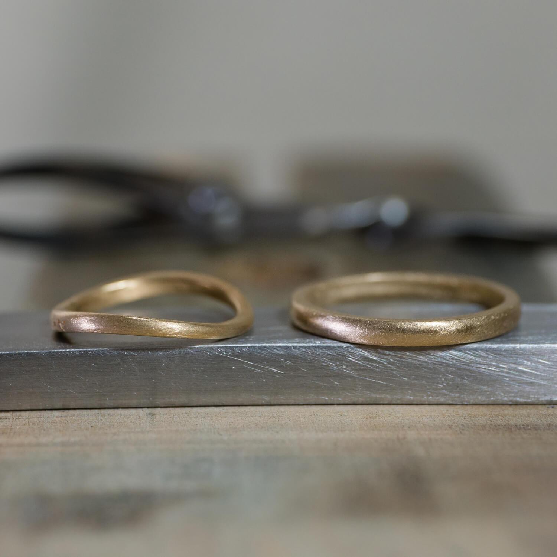 場面2 オーダーメイドマリッジリングの制作過程 屋久島ジュエリーのアトリエ ゴールド 屋久島でつくる結婚指輪
