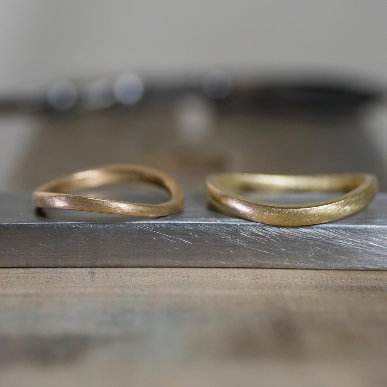 場面3 オーダーメイドマリッジリングの制作過程 屋久島ジュエリーのアトリエ ゴールド 屋久島でつくる結婚指輪