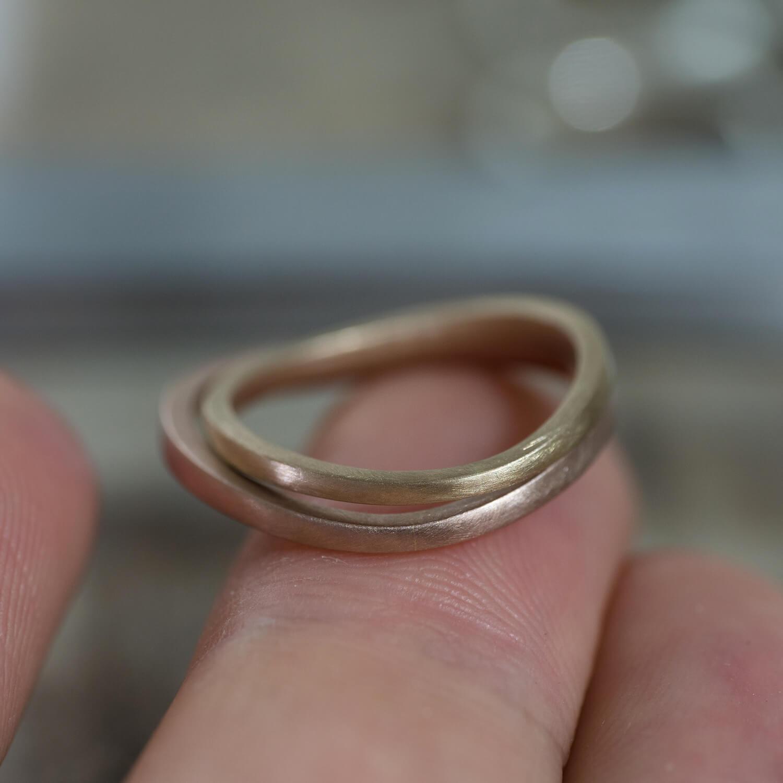 オーダーメイドマリッジリング ジュエリーのアトリエ 手に乗せて ゴールド 屋久島でつくる結婚指輪