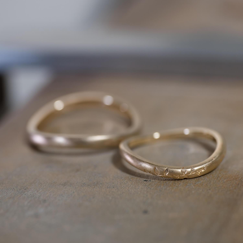 屋久島ジュエリーのアトリエ オーダーメイドマリッジリング ゴールド 屋久島でつくる結婚指輪