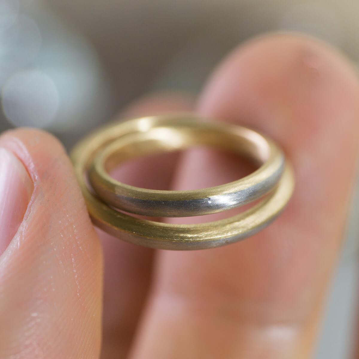 角度2 オーダーメイドマリッジリング ジュエリーのアトリエ プラチナ、ゴールド 屋久島の海モチーフ 屋久島でつくる結婚指輪