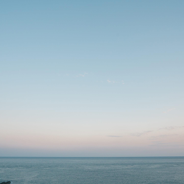 屋久島の海、空 夕暮れ時 屋久島海とジュエリー オーダーメイドマリッジリングのモチーフ