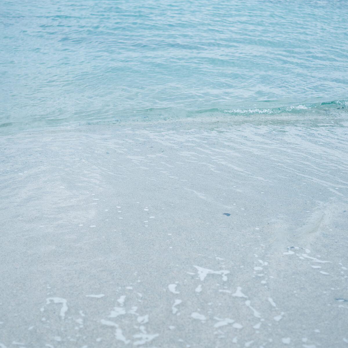 屋久島の海 波打ち際 屋久島海とジュエリー オーダーメイドマリッジリングのインスピレーション