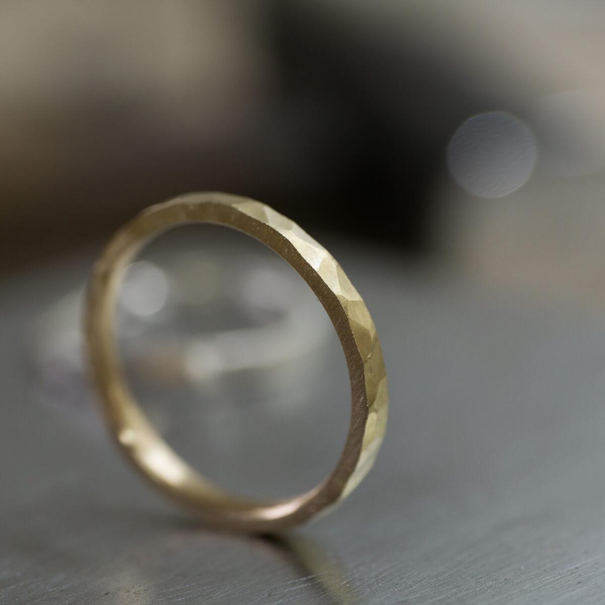 オーダーメイドマリッジリングの制作風景 ジュエリーのアトリエ ゴールドリング 屋久島でつくる結婚指輪