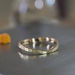 オーダーメイドマリッジリング ジュエリーのアトリエ シャンパンゴールド 屋久島でつくる結婚指輪