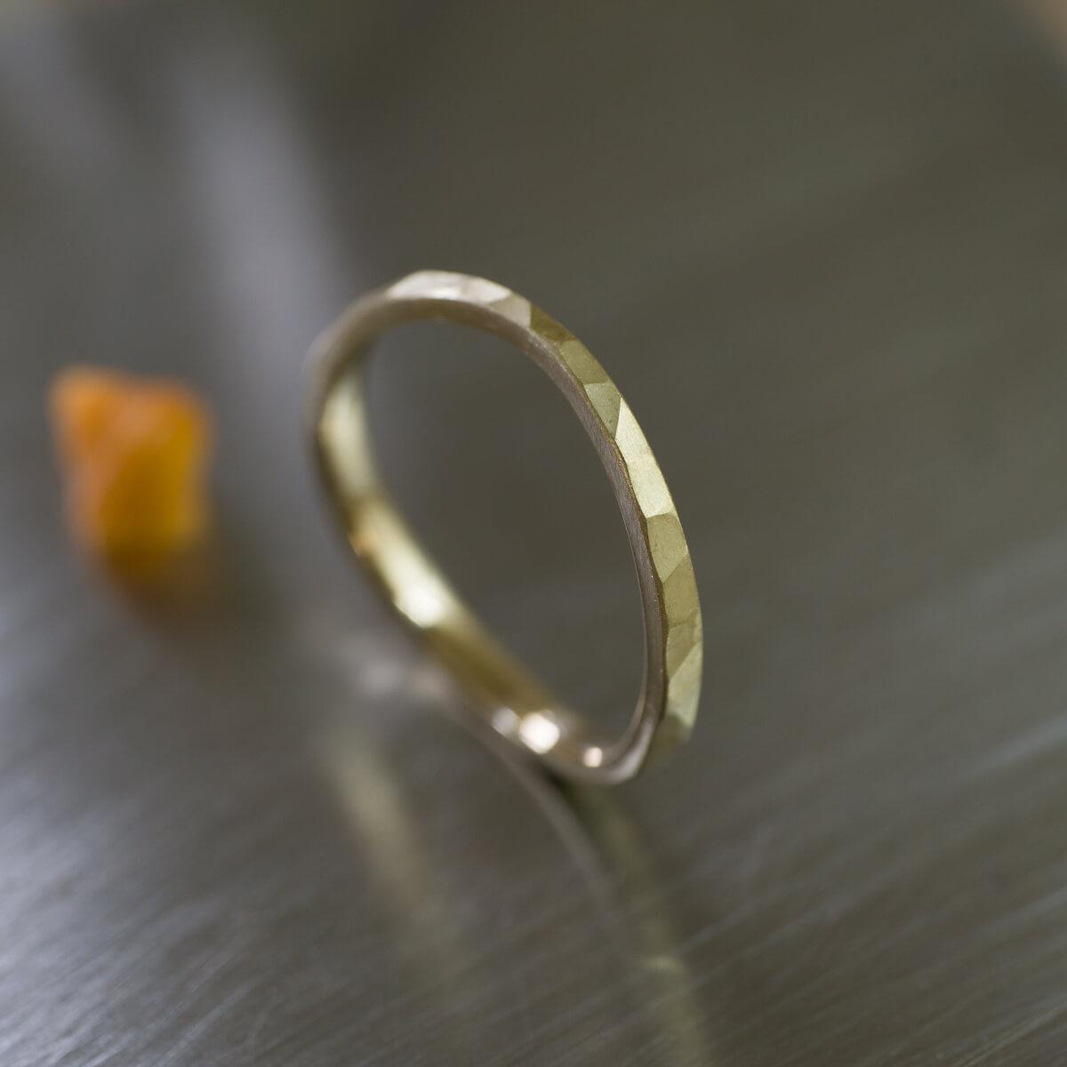 角度2 オーダーメイドマリッジリング ジュエリーのアトリエ シャンパンゴールド 屋久島でつくる結婚指輪