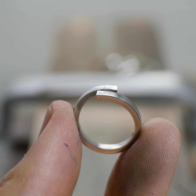 オーダーメイド結婚指輪の制作風景 屋久島ジュエリーのアトリエ プラチナリング   屋久島でつくる結婚指輪