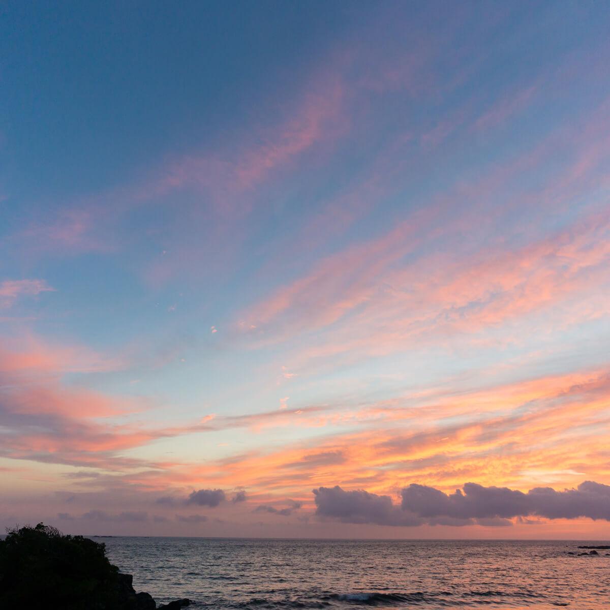 屋久島の海 夕暮れ時 屋久島海とジュエリー