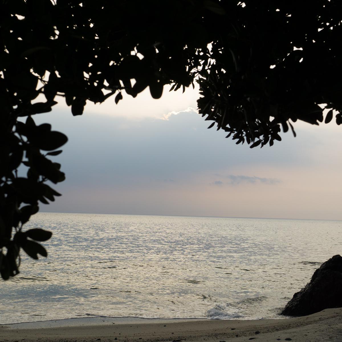 屋久島の海 夕暮れ時 オーダーメイドマリッジリングのモチーフ 屋久島海とジュエリー