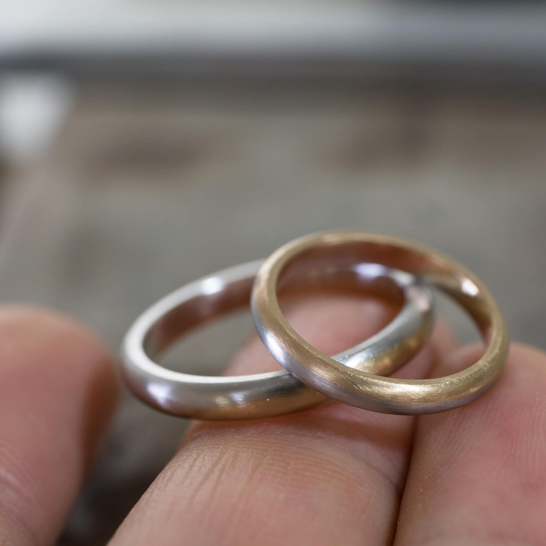 場面2 オーダーメイドマリッジリングの制作風景 ジュエリーのアトリエ ゴールド、プラチナ 屋久島でつくる結婚指輪
