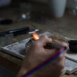 オーダーメイドマリッジリングの制作風景 屋久島ジュエリーのアトリエ プラチナ 屋久島でつくる結婚指輪
