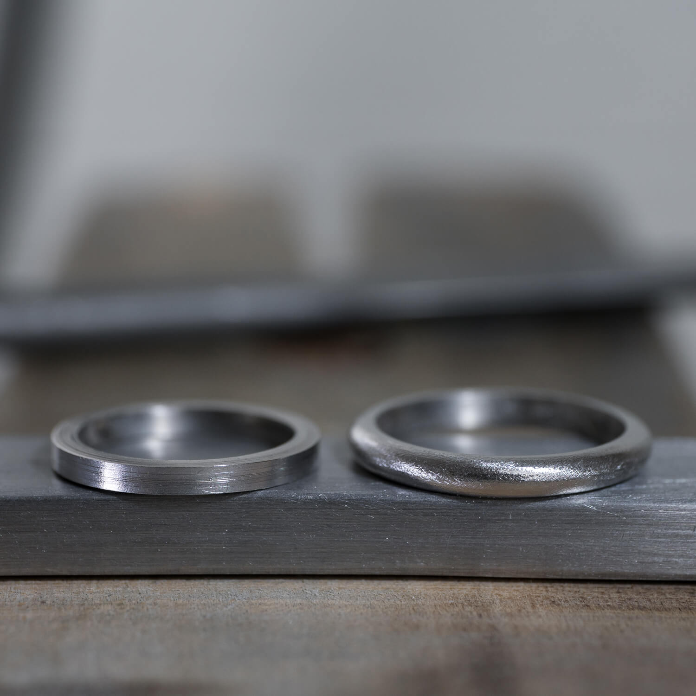オーダーメイドマリッジリングの制作過程 屋久島ジュエリーのアトリエ プラチナ 屋久島でつくる結婚指輪