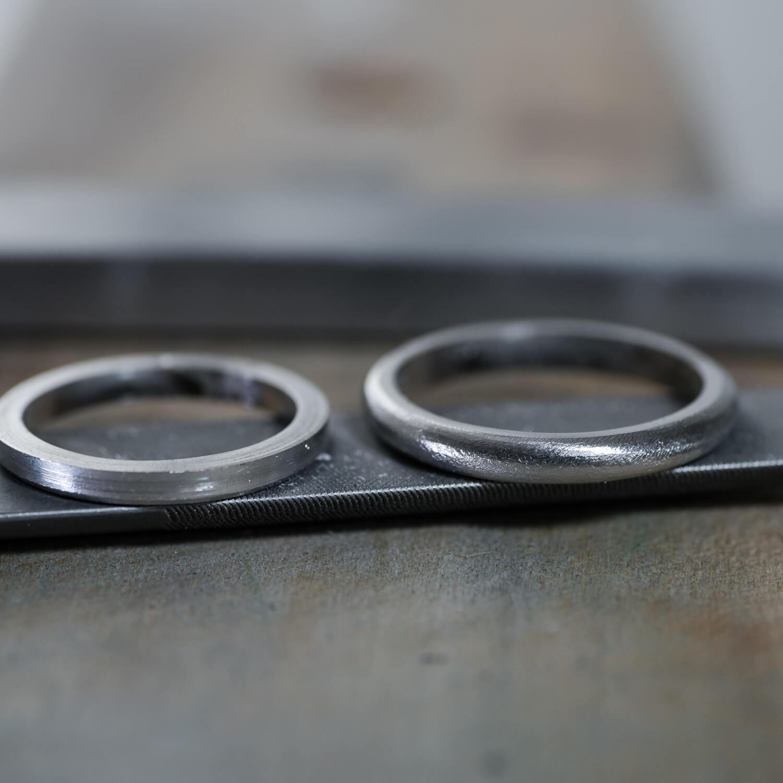 場面2 オーダーメイドマリッジリングの制作工程 屋久島ジュエリーのアトリエ プラチナ 屋久島でつくる結婚指輪