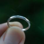 オーダーメイドマリッジリング、屋久島の緑バック プラチナ 屋久島でつくる結婚指輪