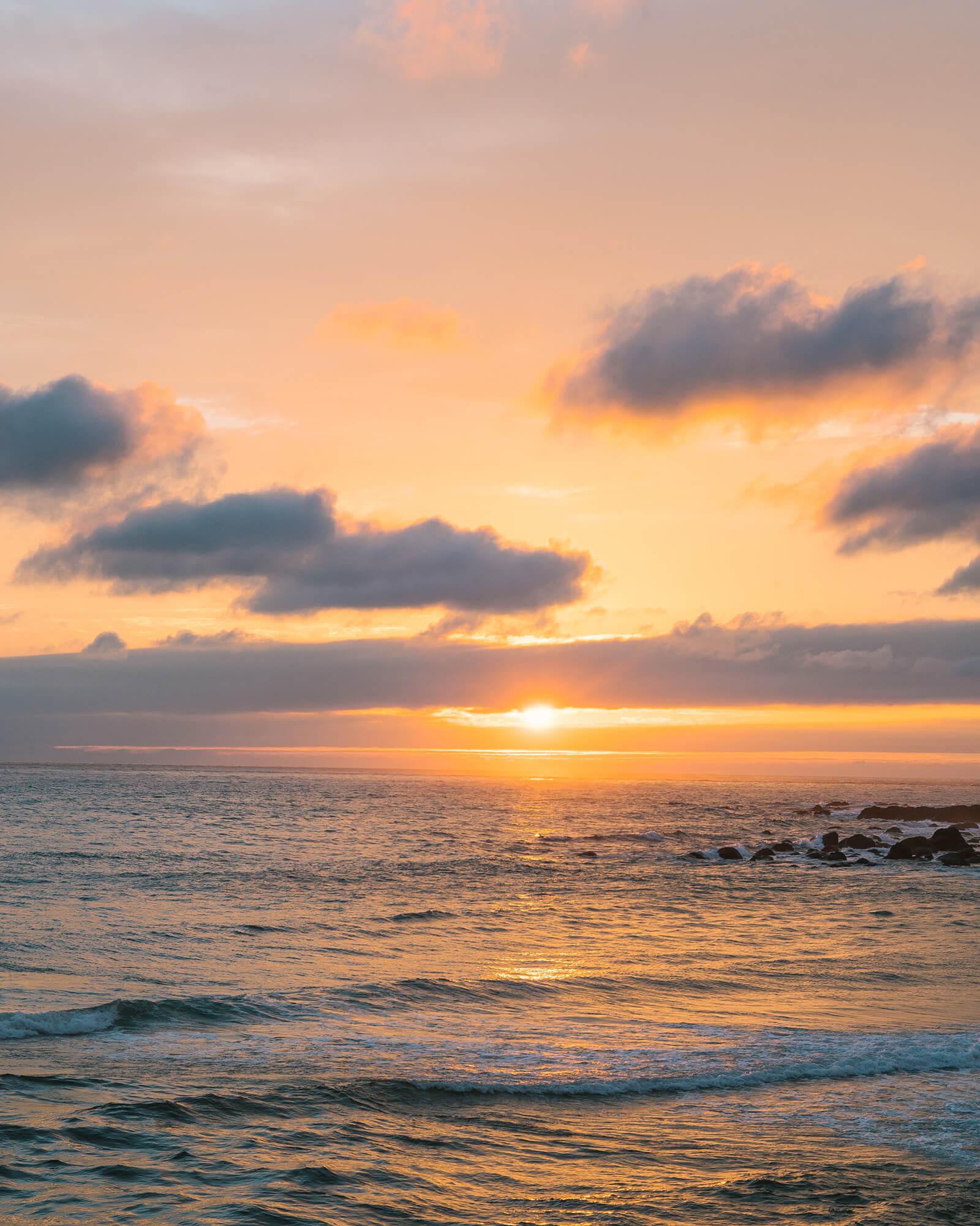 屋久島のリズム、ほっと一息だった夕暮れ時 #屋久島海とジュエリーと