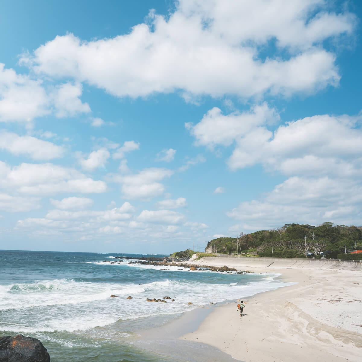 屋久島の海、空、ビーチ 屋久島海とジュエリー オーダーメイドマリッジリングのモチーフ