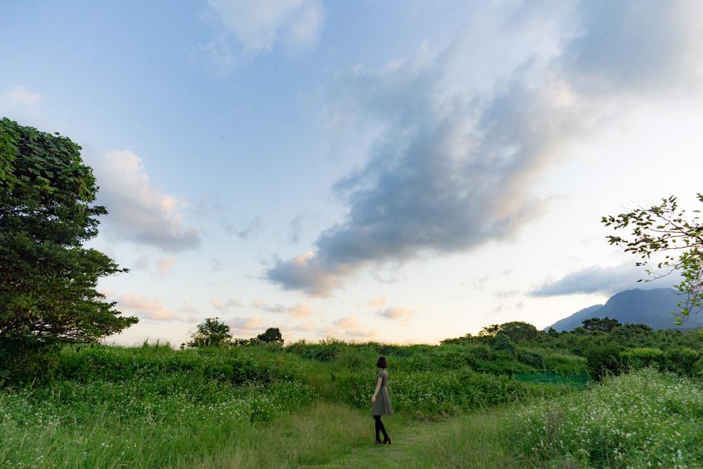 屋久島 夕暮れ時の風景