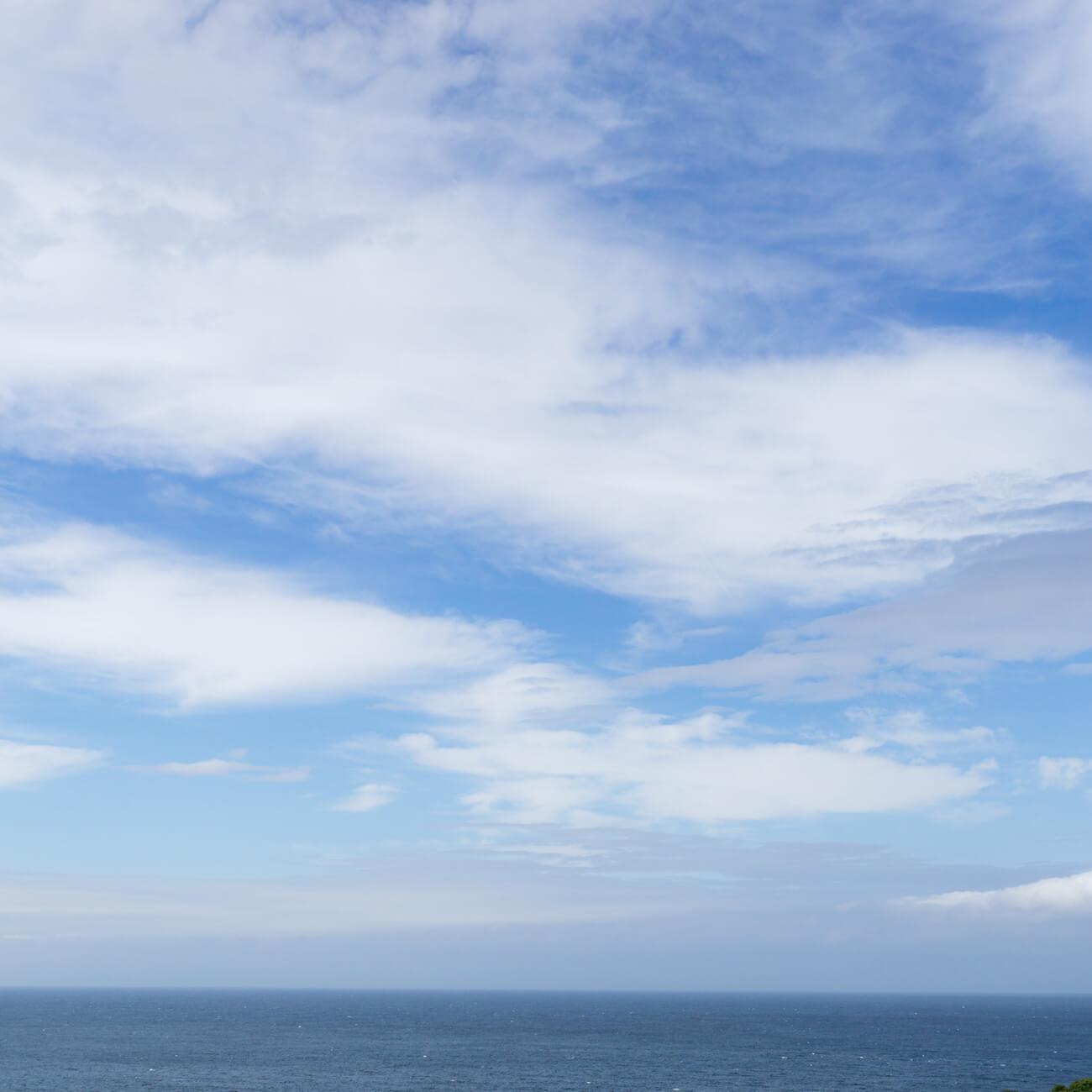 屋久島の空、海 屋久島海とジュエリーと オーダーメイドマリッジリングのモチーフ