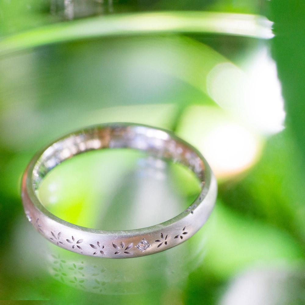 祝福の指輪 3.0mm round flower ring
