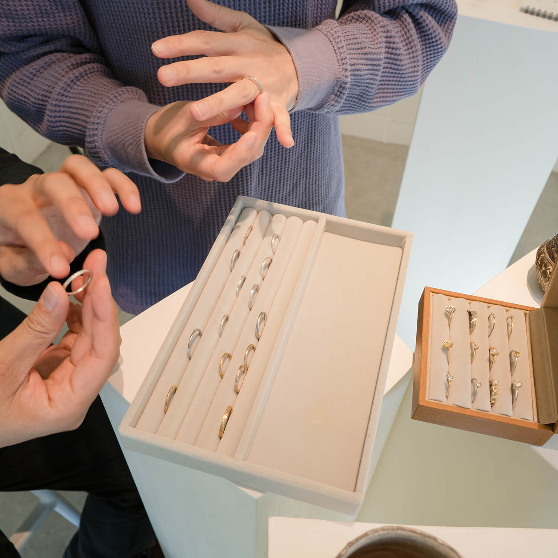 屋久島でつくる結婚指輪相談会 屋久島しずくギャラリー オーダーメイドマリッジリングの制作販売